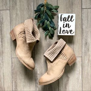 Splendid Culver Ankle Boots Woven Western Bootie